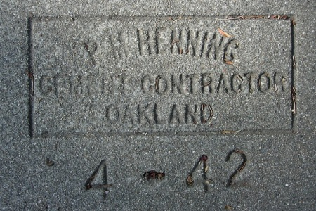 Sidewalk maker p m henning oakland underfoot for 260 parkview terrace oakland ca